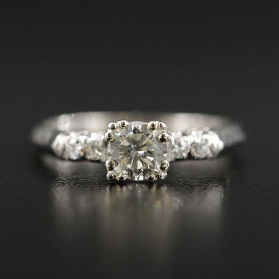 Platinum 0.53 CTW Diamond Ring