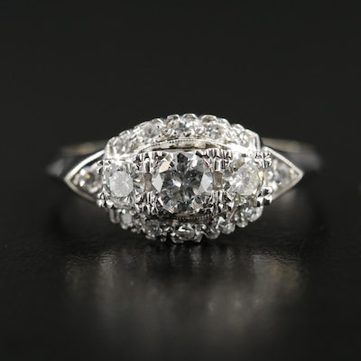 14K White Gold 0.74 CTW Diamond Ring
