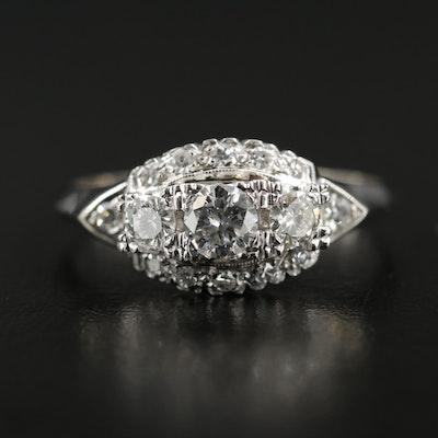 14K White Gold 0.74 CTW Diamond Ring