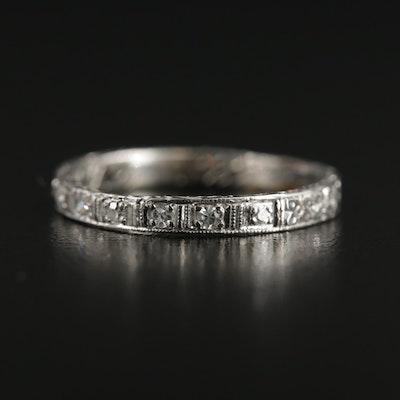 Art Deco Platinum Diamond Band