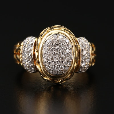 John Hardy 18K Gold Diamond Ring