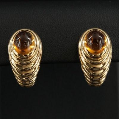 Bulgari 18K Gold and Citrine Clip-On Earrings