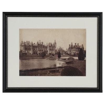 "Francis Bedford Albumen Photograph ""1323 Eaton Hall"" 1880"