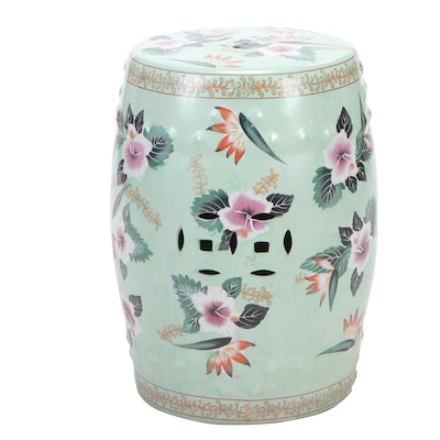 Chinese Floral Ceramic Garden Stool