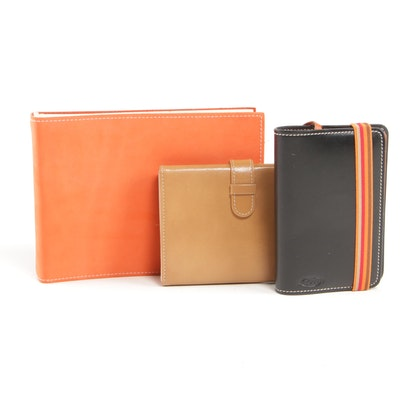 Kate Spade Leather Trifold Photo Holder, Under Cover Album and Tod's Notebook