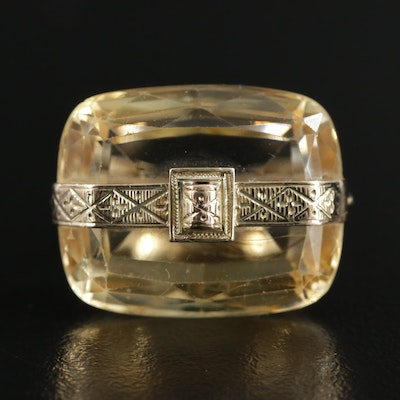 Vintage 14K Gold Citrine Ring