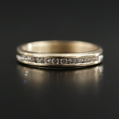 10K Gold Channel Set Diamond Band