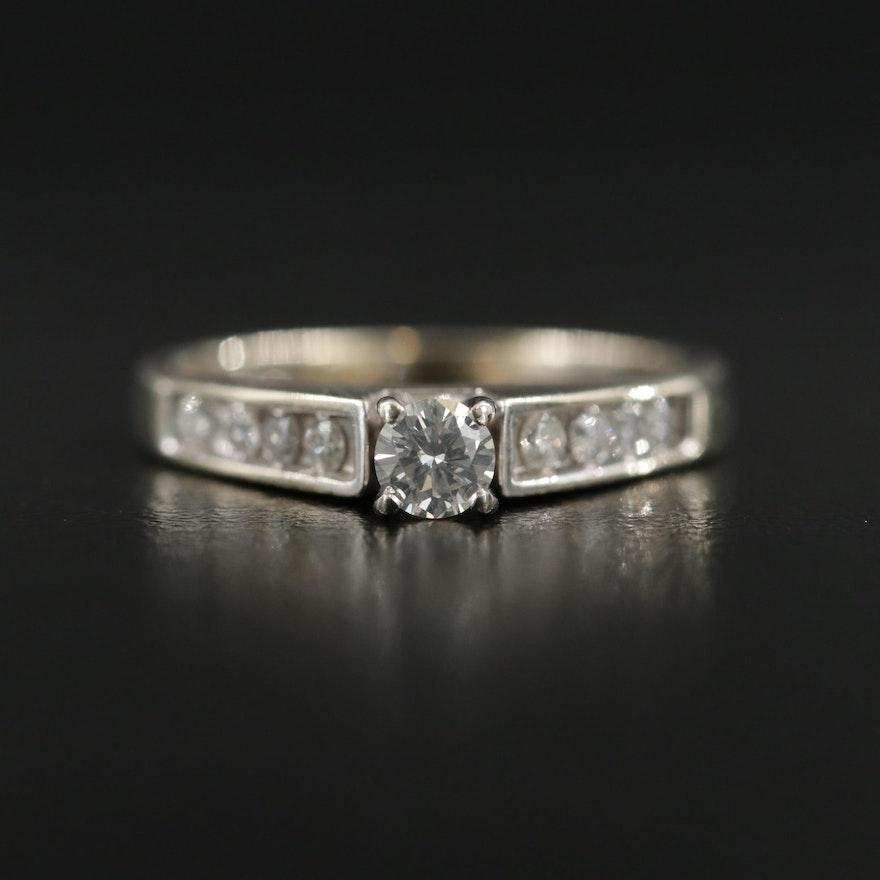 14K White Gold 0.32 CTW Diamond Ring