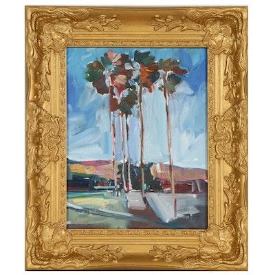 "Jose Trujillo Oil Painting ""Palm Breeze"""