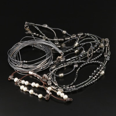 Silpada Necklaces with Cultured Pearl and Hematite