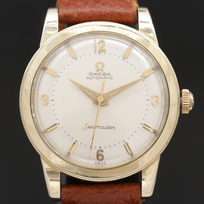 Omega Seamaster 14K Gold Filled Automatic Wristwatch, Circa 1956