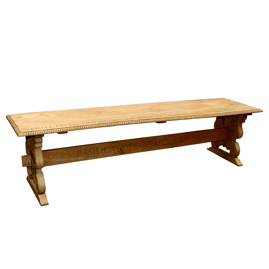 Quince and Quinn Latin Biblical Motif Bench