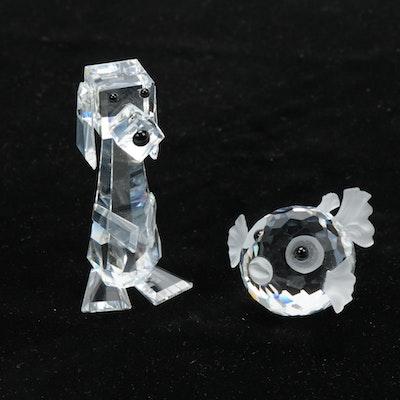 "Swarovski Crystal ""Hound"", ""Puffer Fish"" and Gloves"