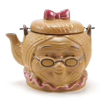 Japanese Figural Ceramic Teapot, Mid-20th Century