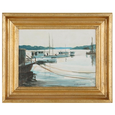 Charles Townsend Oil Painting of Ohio River Scene