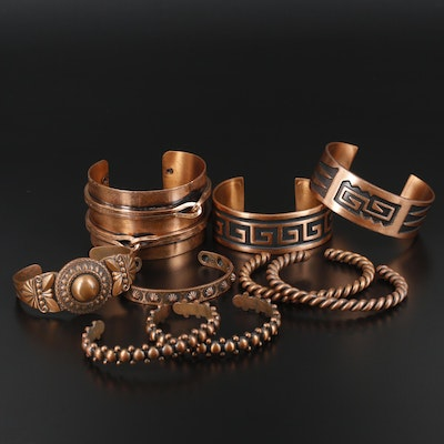 Various Copper Bracelets