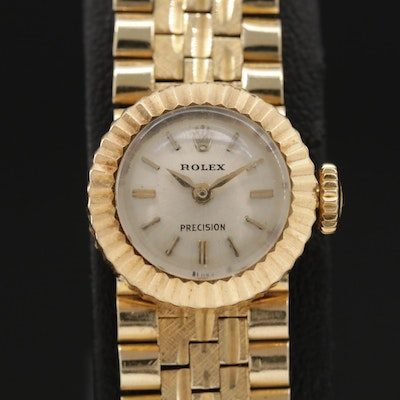 Rolex Chameleon Model 8788 18K Gold Watch and 18K Gold Band