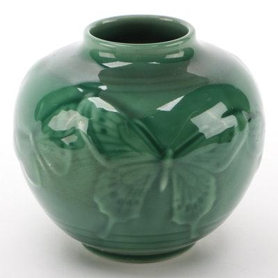 Rookwood Pottery Green High Glaze Ceramic Production Vase, 1950