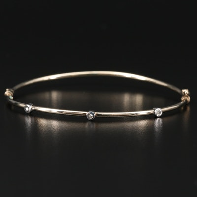 Sterling Silver Diamond Station Bracelet