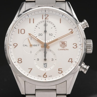 TAG Heuer Carrera Calibre 1887 Stainless Steel Automatic Wristwatch