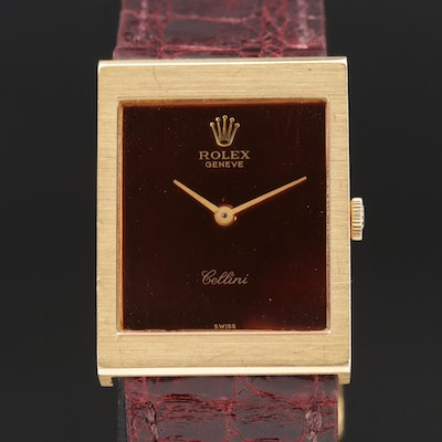 Vintage Rolex Cellini 18K Gold Stem Wind Wristwatch