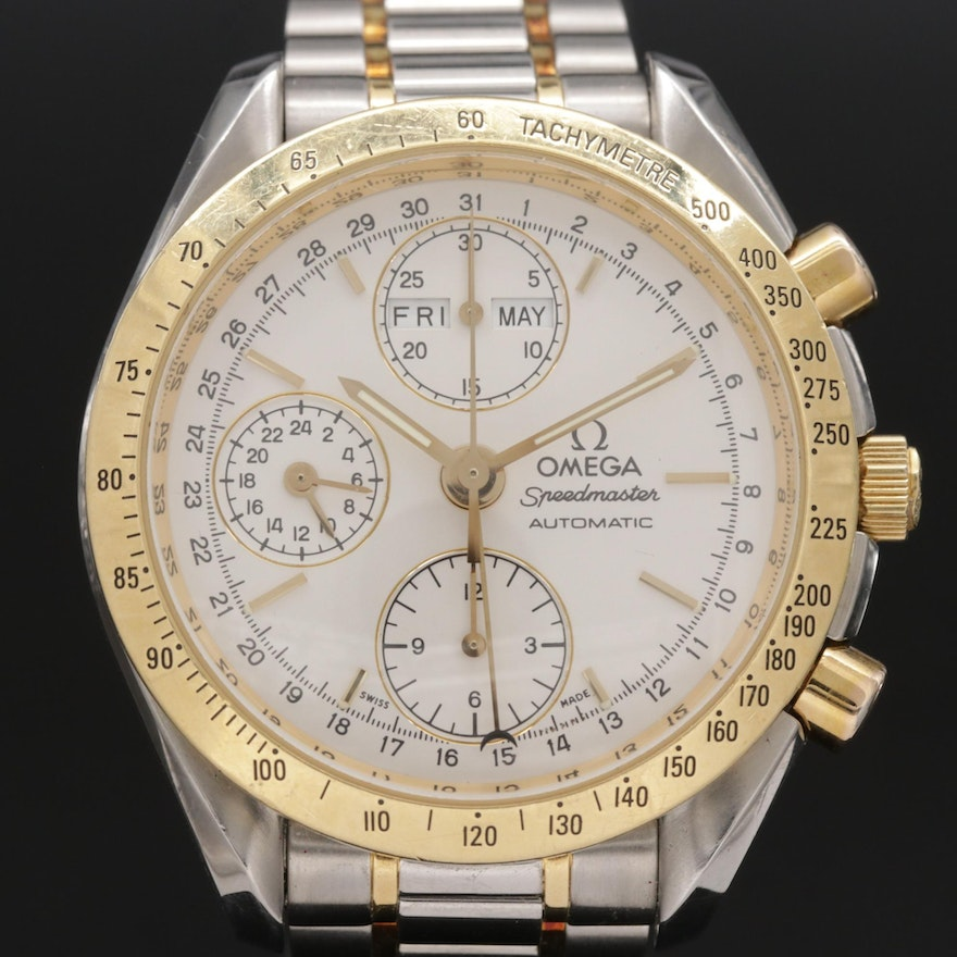 Omega Speedmaster Reduced 18K Gold and Stainless Steel Automatic Wristwatch