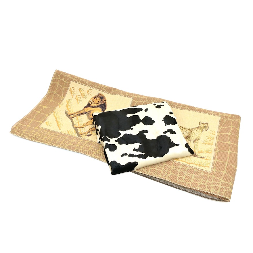 Animal Print Throw Blanket and Accent Rug