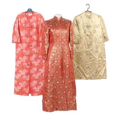 Chinese Dynasty and Neiman-Marcus Jacquard and Brocade Coats, Vintage
