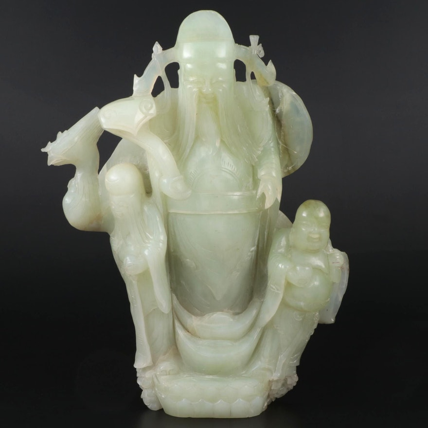 East Asian Carved Bowenite Figural Scupture