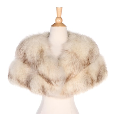 Ben Rahn Boutique Fox Fur Shrug Stole from Sincerely Gidding Jenny
