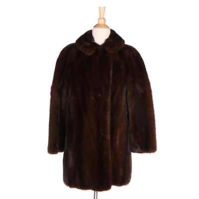 Mahogany Brown Mink Fur Stroller Coat from Lowenthal's