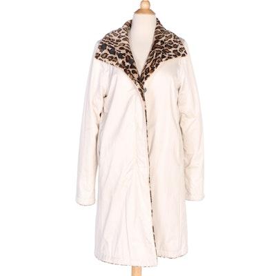 Jane Post for Saks Fifth Avenue Reversible Faux Fur Raincoat