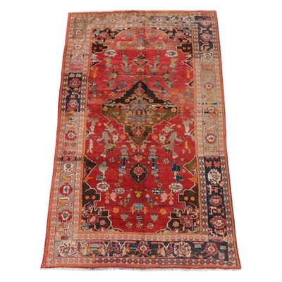 6'0 x 10'4 Hand-Knotted Persian Mahal Wool Rug