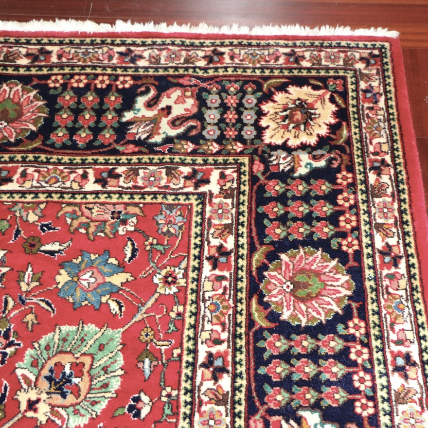 10'1 x 12'10 Hand-Knotted Persian Isfahan Style Wool Rug