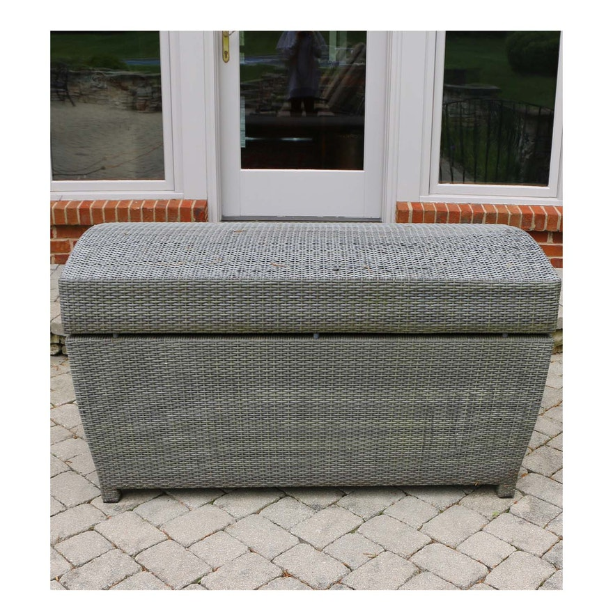 Frontgate Outdoor Wicker Storage Bin
