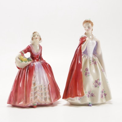 """Royal Doulton """"Bess"""" and """"Janet"""" China Figurines"""
