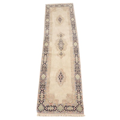 4'0 x 16' Hand-Knotted Indo-Persian Floral Wool Long Rug