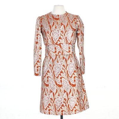 Murray Nieman for Hannah Troy Jacquard Cocktail Dress, 1960s Vintage