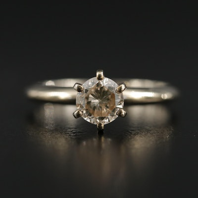 14K Gold 0.75 CT Diamond Solitaire Ring