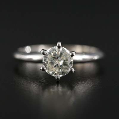 14K Gold 0.73 CT Diamond Solitaire Ring