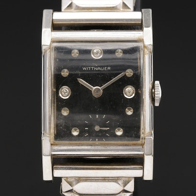 Wittnauer Diamond Dial and Gold Filled Stem Wind Wristwatch, Vintage