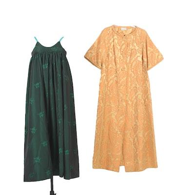 Chiha-Rosenfeld Jacquard Dress Coat and Sleeveless Dress, Vintage