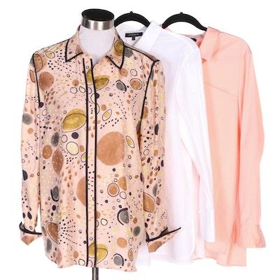 Lafayette 148 New York Silk and Cotton Blend Shirts