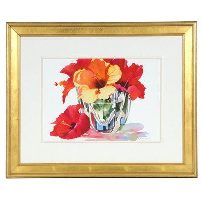 Anne Abgott Still Life of Flowers Giclée