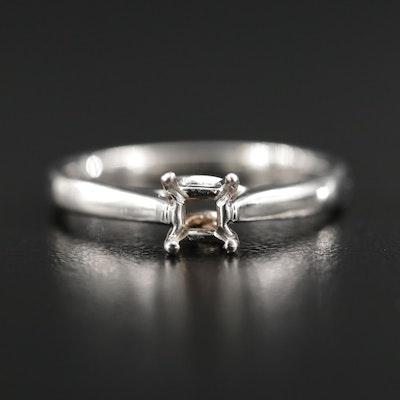 14K Gold Semi-Mount Ring