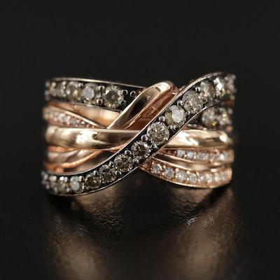 Le Vian 14K Gold Diamond Crisscross Ring