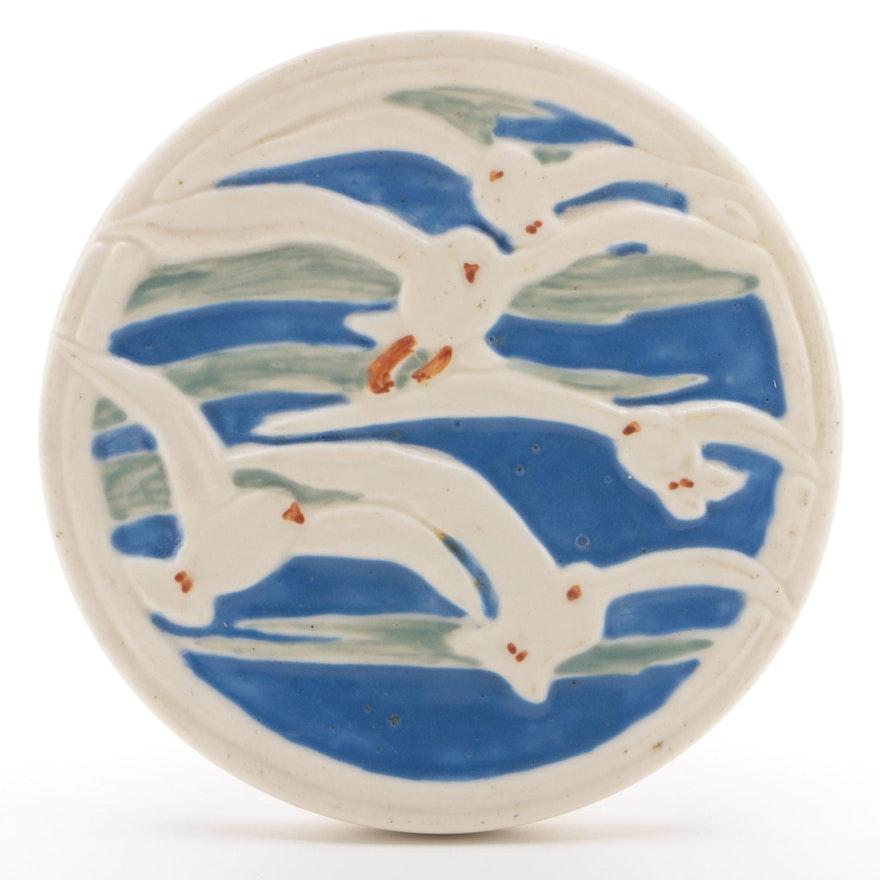 Rookwood Pottery Decorative Round Tile Trivet