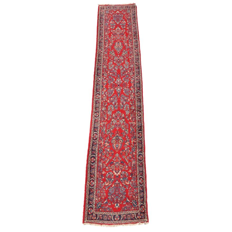 2'8 x 14'2 Hand-Knotted Persian Arak Carpet Runner