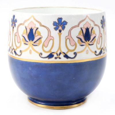 Ravenwood Hand-Painted Limoges Porcelain Cachepot