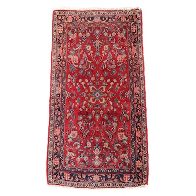2'6 x 4'11 Hand-Knotted Persian Arak Wool Rug